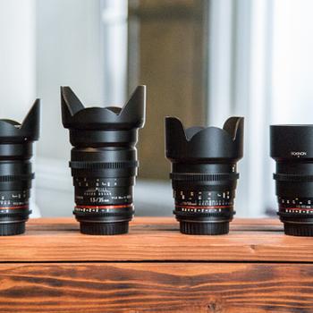 Rent Rokinon Cine DS EF Mount Lens Set: 14, 24, 50MM (BEST DEAL ON KITSPLIT!)