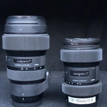 Rent Sigma ART Zoom f1.8 Kit (18-35mm / 50-100mm) w/ 0.8 pitch