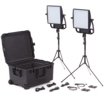 Rent TWO Litepanel Astra 1x1  (6x) Bi-Color  DUO KIT (V-mount)