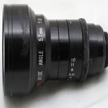 Rent Century 5.7mm T2 C-Mount Wide Angle Cine Lens