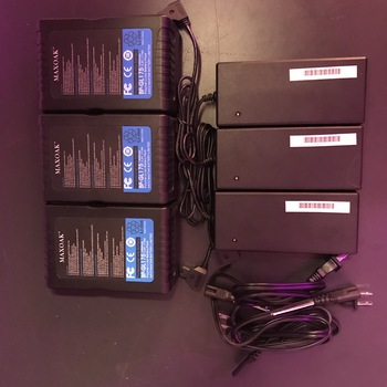 Rent 3x maxoak 177wh v lock battery + 3x chargers