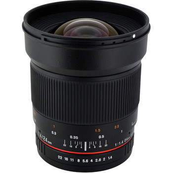 Rent Rokinon 24mm f/1.4 ED AS UMC Wide-Angle Lens for Canon