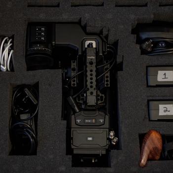 Rent Blackmagic Ursa Mini Pro with Lens and Tripod