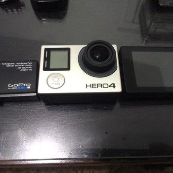 Rent GoPro Hero 4, Display Screen, extra battery, and more!