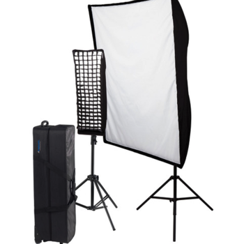"""Rent Westcott Spiderlite Soft Box Key x2 units (with 12 daylight fluorescent bulbs) includes 1 - 12""""x36"""" soft box and 1- 24""""x36"""" soft box and Lowe Pro travel suitcase"""