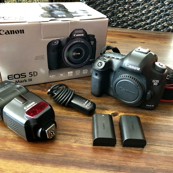 Rent Canon  5d Mark III (Body Only) + Flash &  Shutter Remote!