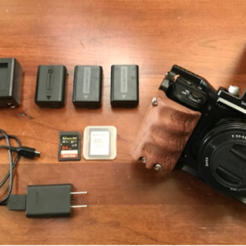 Rent Sony A6500 4k Camera Pkg - Lens, Batteries, EF Adapter etc.
