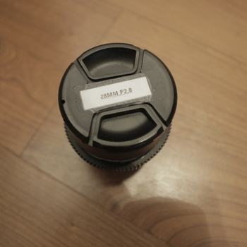 Rent Canon EOS or Nikon 28mm f2.8 with follow focus cogs and lens hood