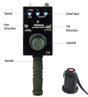Proaims 3axts pan tilt with camera joystick000