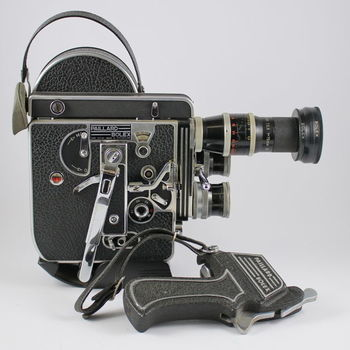Rent Paillard Bolex 16mm camera with lenses and lens turret