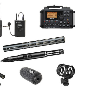 Rent Location Sound Kit - Shotgun Boom, Wireless Microphone System and Recorder Kit