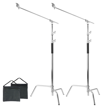 Rent 2 Heavy Duty C-Stand Kit with Sand Bags