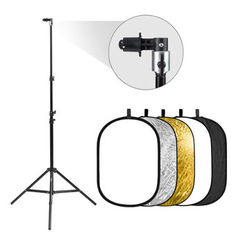"Rent  24 x 36"" Collapsible Reflector / Diffuser kit with Stand"