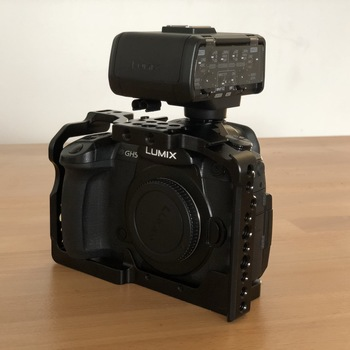 Rent Panasonic GH5 body with Cage, Vlog, XLR adapter, 2 x 128GB cards, 3 batteries,