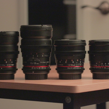 Rent Rokinon 24, 35, 50, & 85mm T1.5 Cine Lens Set EF Mount
