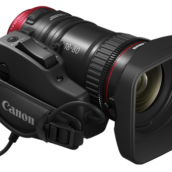 Rent Canon 18-80mm and 70-200mm T/4.4 CN-E Compact Servo Zoom lenses with Grips