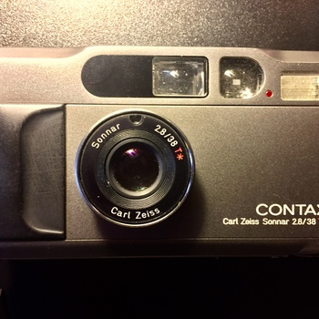 Rent Contax T2 35mm point and shoot camera with Carl Zeiss 38mm f2.8 lens