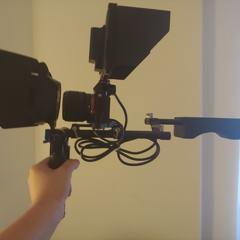 Rent Sony a7s with 2 lenses, monitor, shoulder rig, vertical grip.