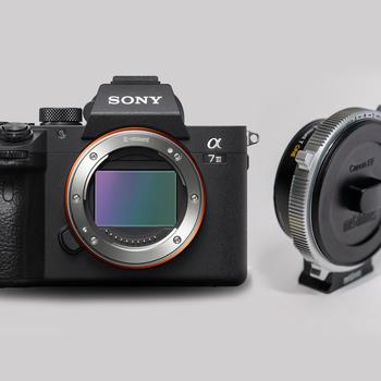 Rent Sony A7 iii with Metabones CINE EF to E mount Smart Adapter