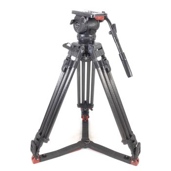 Rent HEAVY DUTY  Sachtler Video 20 P with HD Carbon Fiber legs and floor spreader.