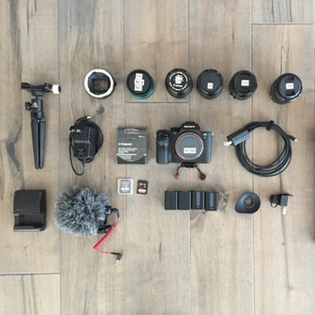 Rent Sony A7sII video kit + lenses