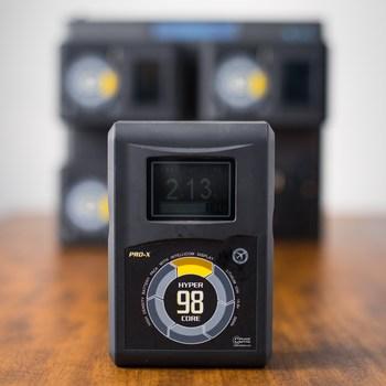 Rent 4x Core SWX 98wh Gold Mount Batteries w/ Quad Charger