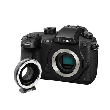 Rent Panasonic GH5 Mirrorless Camera Kit w/ Vlog, EF Mount, Cards