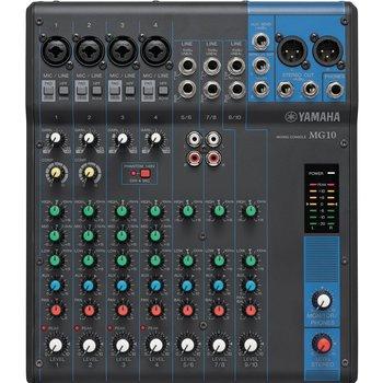 Rent Yamaha MG10 Audio Mixing Console w/ mics and headphones