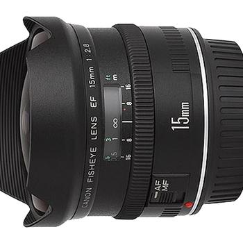 Rent Rare Canon Fisheye EF 15mm f/2.8 Lens w/ Rear Gel Holder Like New
