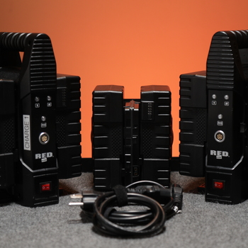 Rent 6x RED Brick V Mount Battery Kit with 2x Red Battery Charger