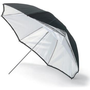 "Rent Westcott 45"" Umbrella - Silver/ Black"