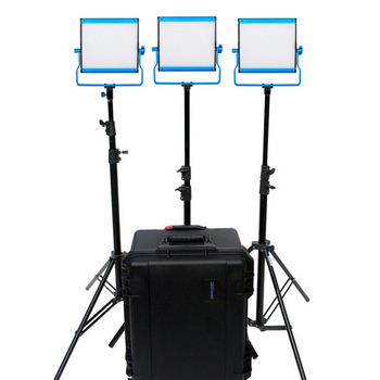 Rent 3-Light Kit: 3 x Dracast LED500 S-Series Bi-Color with V-Mount Battery Plates and Hard Case