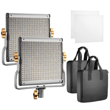 Rent 2 Packs Dimmable Bi-color 480 LED with U Bracket Professional Video Light