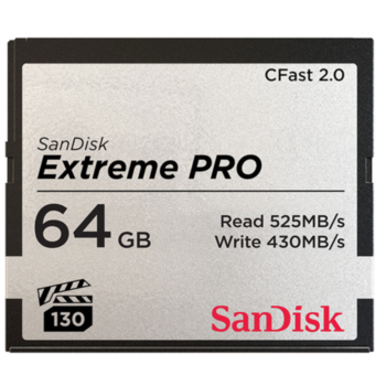 Rent Sandisk Extreme Pro Cfast 2.0 64GB Memory Card Read 525 Write