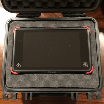 Rent Atomos Ninja flame 4k Monitor/Recorder + 2 SSD drives + articulating arm.