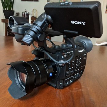 Rent Sony FS5 Kit (4K Raw Enabled) w 4K Monitor/Recorder & 24-70mm and 70-200mm lens