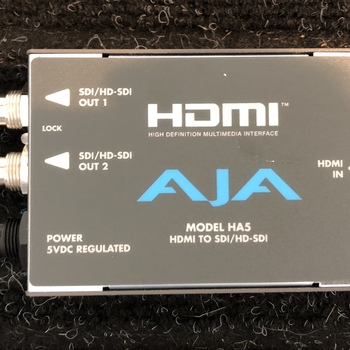 Rent AJA HA5 HDMI to HD-SDI Converter