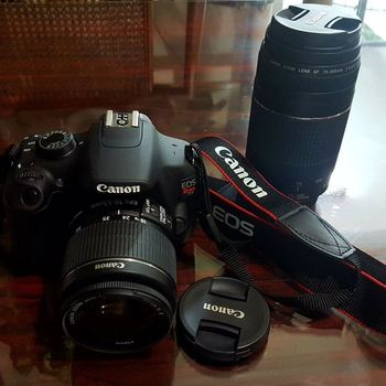 Rent Canon EOS Rebel T5 w/ EF-S 18-55mm and EF 75-300mm lens