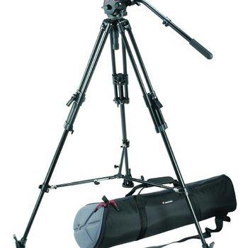 Rent Manfrotto Pro Video Kit w/351MVB2 Aluminum Tripod Legs, 503 Pro Fluid Head,  Case
