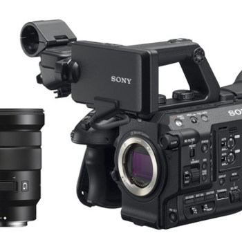 Rent Sony FS5M2 4K Super35mm Compact Camcorder with Sony 18 to 105mm Zoom Lens and adapter for Canon EF lenses