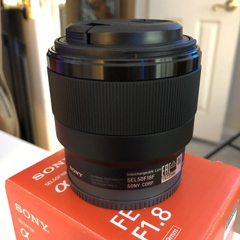 Rent Sony 50mm f1.8 FE E-mount lens