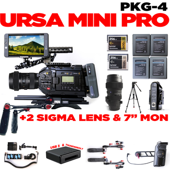 Rent URSA Mini Pro + 2 Lens & SmallHD 702