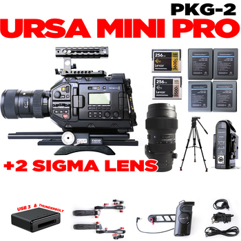 Rent URSA Mini Pro + 18-35 & 50-100 Sigma (w/focus gears)