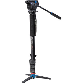 Rent Benro A48FDS4 Series 4 Aluminum Monopod with 3-Leg Locking Base and S4 Video Head
