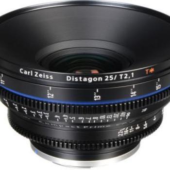 Rent Zeiss Compact Prime CP.2 25mm T2.1 Cine Lens