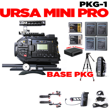Rent URSA Mini Pro • (4) batteries • (2) 256gb cards • (2) Shape grips • Tripod