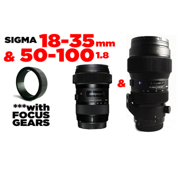 Rent Sigma 18-35 & 50-100mm f1.8 EF w/Focus Gears