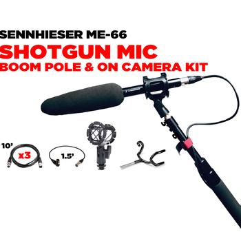 Rent Sennheiser ME66 Shotgun Mic w/Boom Pole