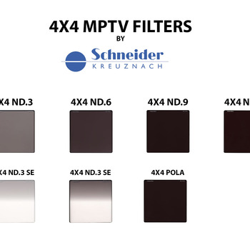 Rent 4x4 Schneider ND .3, .6, .9, 1.2, POLARIZER, .3 SE, .6 SE