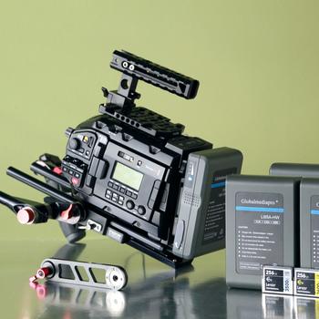 Rent URSA Mini Pro • (4) batteries • (2) 256gb cards • (2) Shape grips • Tripod